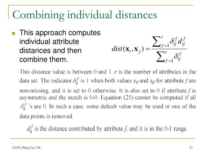Combining individual distances