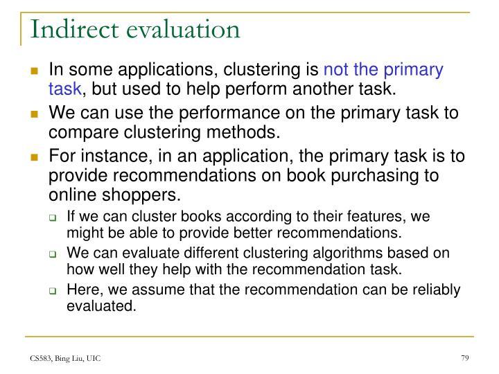 Indirect evaluation