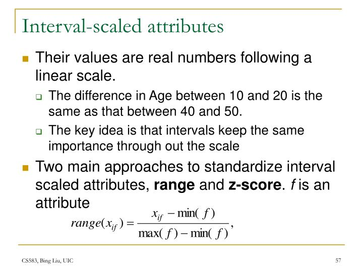Interval-scaled attributes