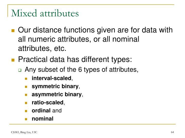 Mixed attributes