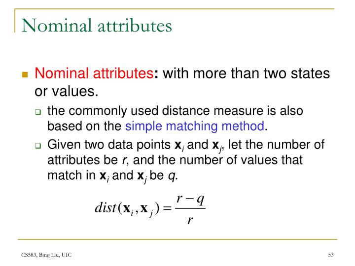 Nominal attributes