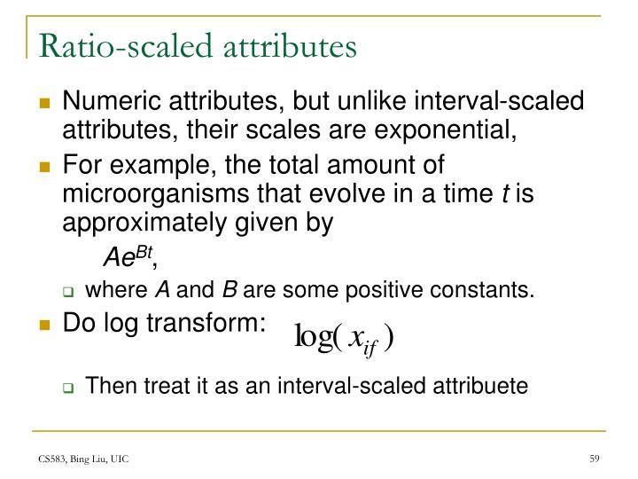 Ratio-scaled attributes