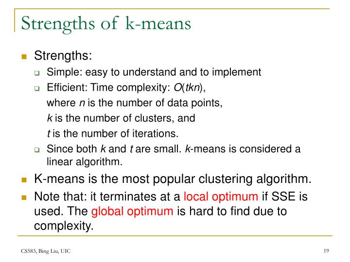 Strengths of k-means