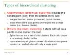 types of hierarchical clustering