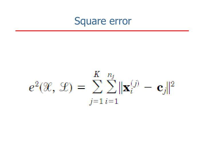 Square error