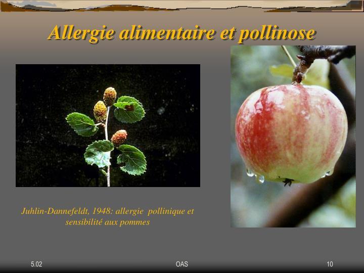 Allergie alimentaire et pollinose
