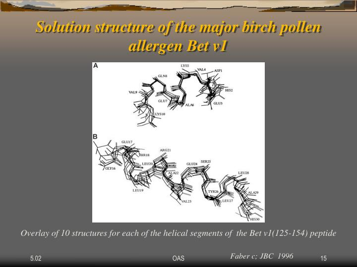 Solution structure of the major birch pollen allergen Bet v1
