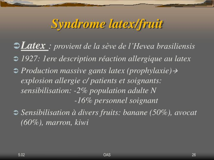 Syndrome latex/fruit