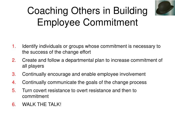 Identify individuals or groups whose commitment is necessary to the success of the change effort