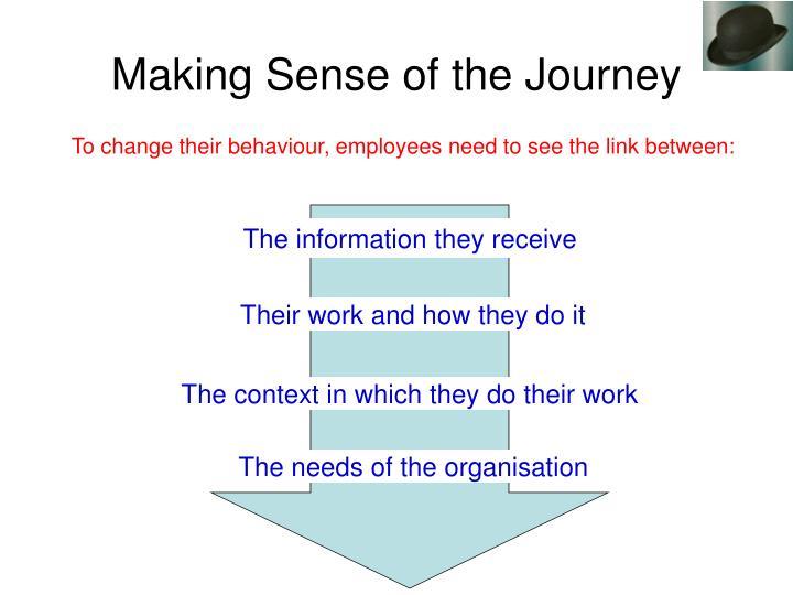 Making Sense of the Journey