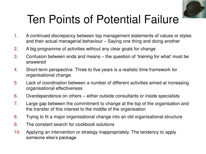 A continued discrepancy between top management statements of values or styles and their actual managerial behaviour – Saying one thing and doing another