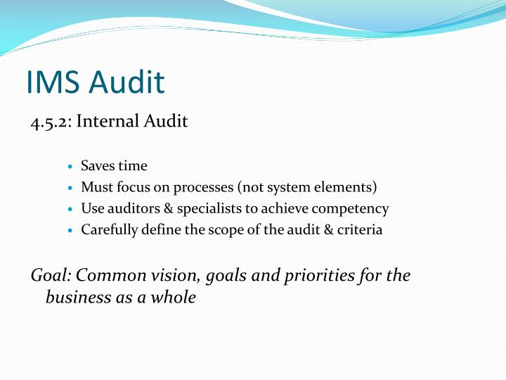 IMS Audit