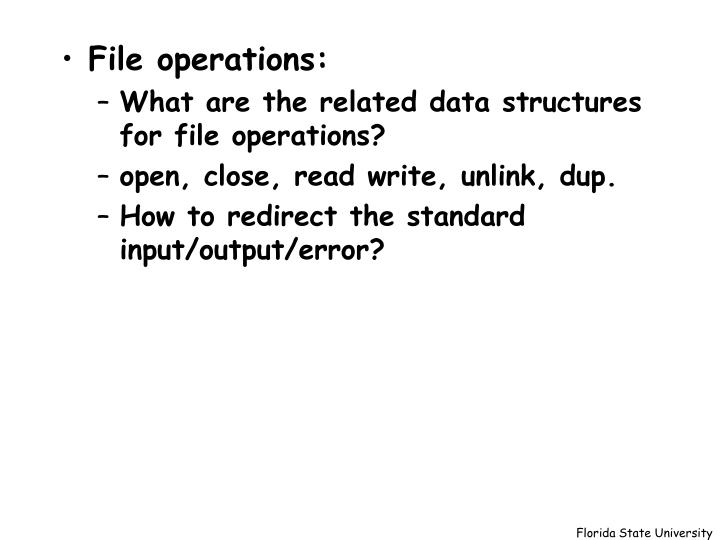 File operations: