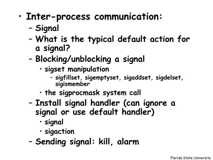 Inter-process communication: