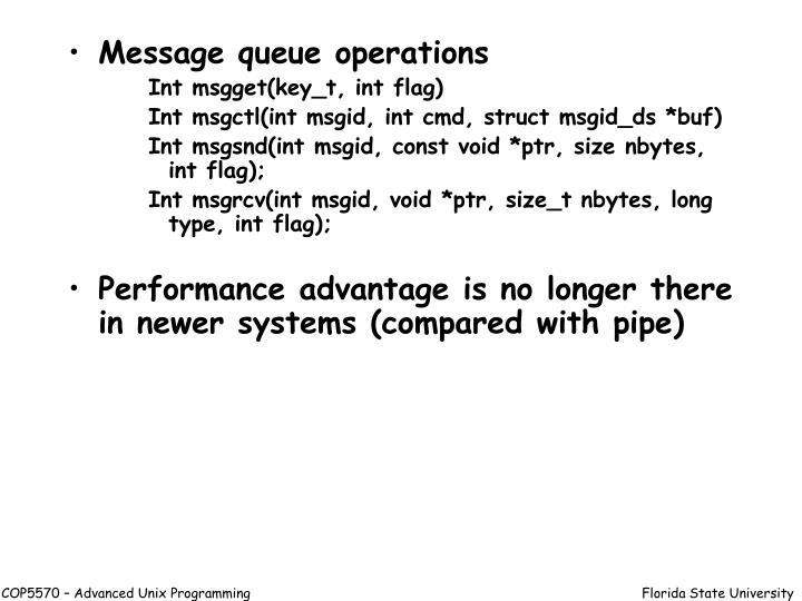 Message queue operations