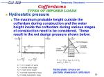 cofferdams types of imposed loads