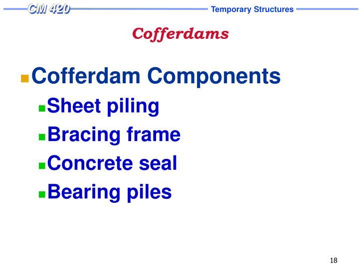 Cofferdams