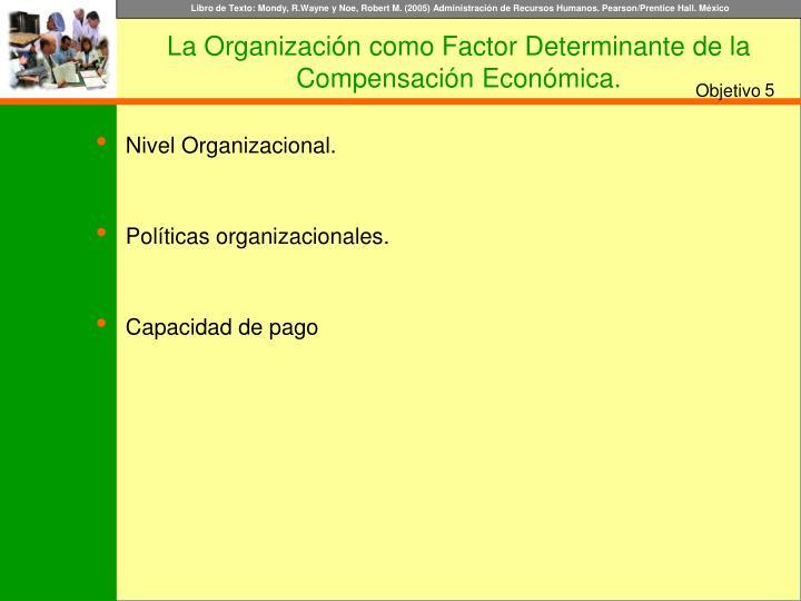 Nivel Organizacional.