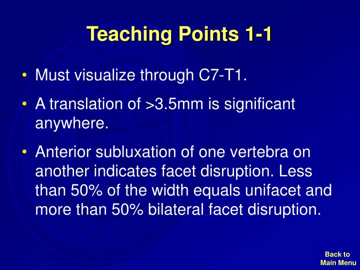 Teaching Points 1-1