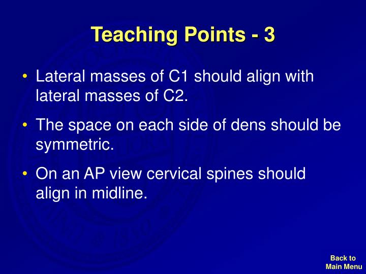 Teaching Points - 3