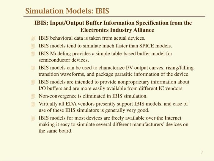 Simulation Models: IBIS