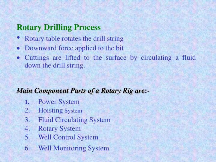 Rotary Drilling Process