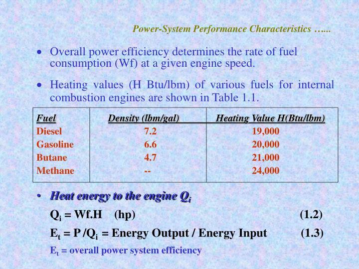 Power-System Performance Characteristics …...
