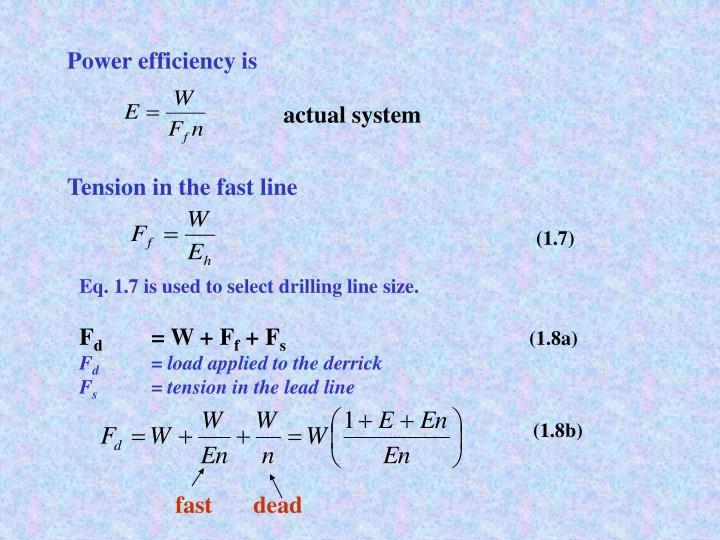Power efficiency is