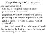 cognitive style of powerpoint4