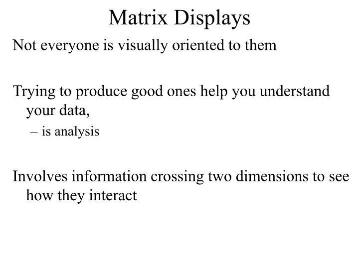Matrix Displays