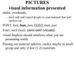 pictures visual information presented