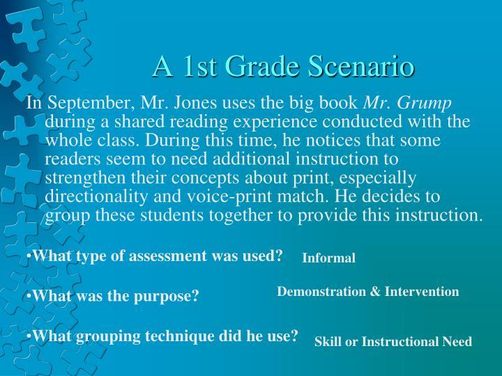 A 1st Grade Scenario