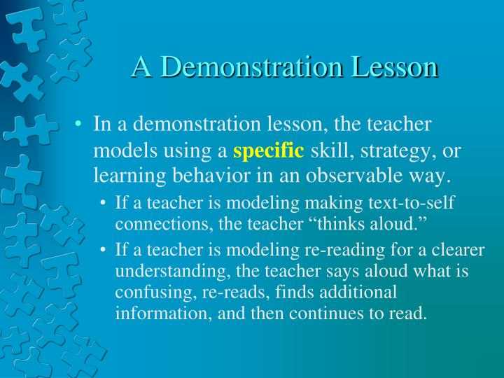 A Demonstration Lesson