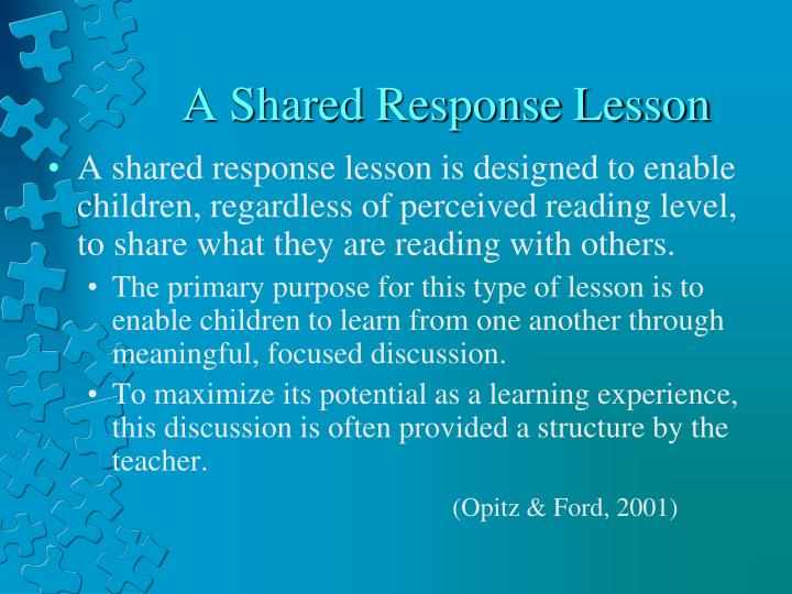 A Shared Response Lesson