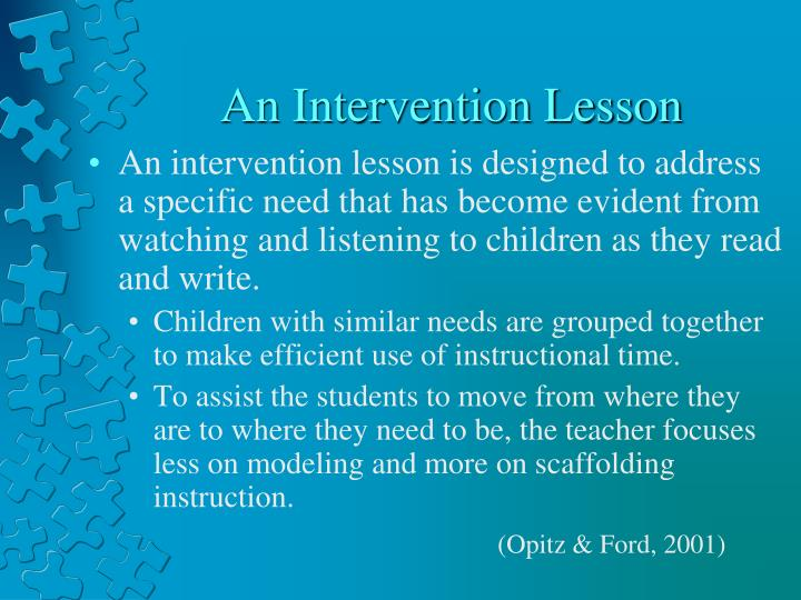 An Intervention Lesson