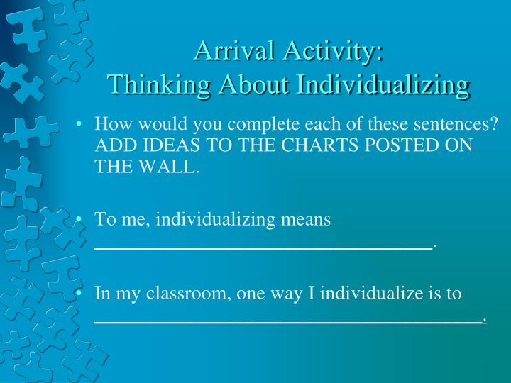 Arrival Activity: