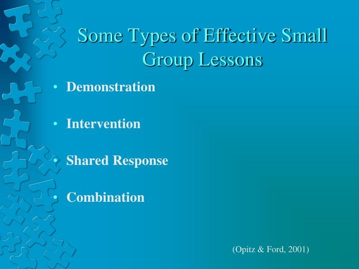 Some Types of Effective Small Group Lessons