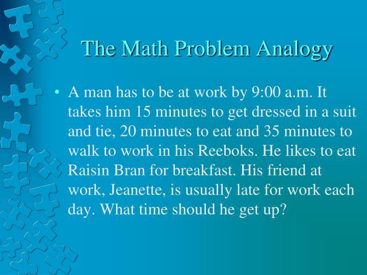 The Math Problem Analogy