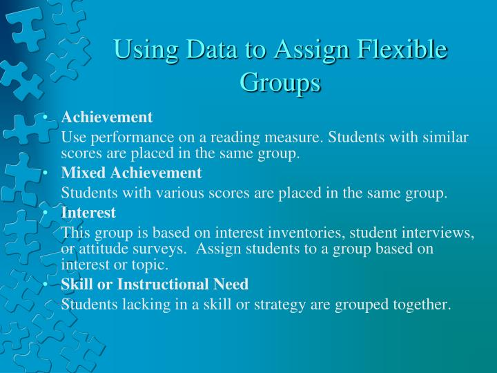 Using Data to Assign Flexible Groups