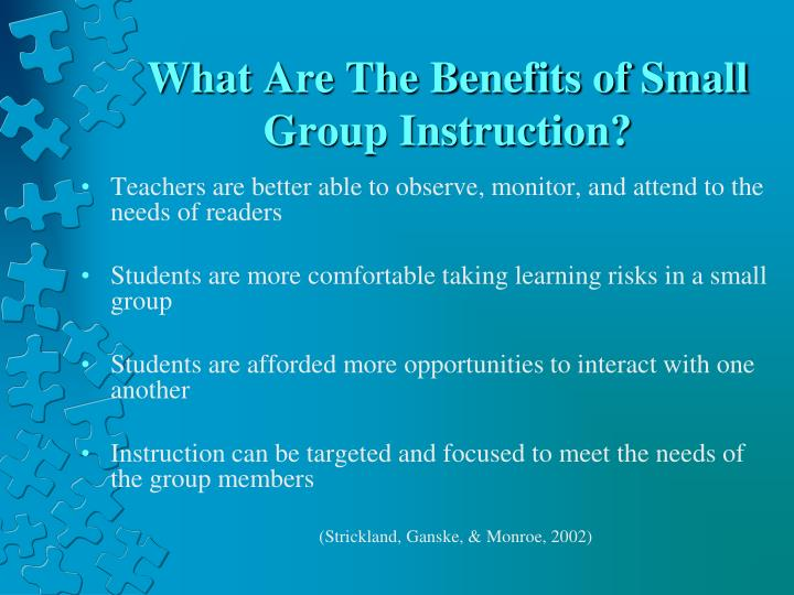 What Are The Benefits of Small Group Instruction?