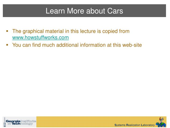 Learn More about Cars