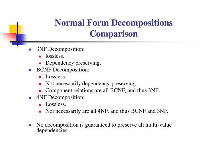 Normal Form Decompositions