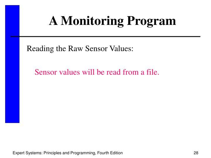 A Monitoring Program