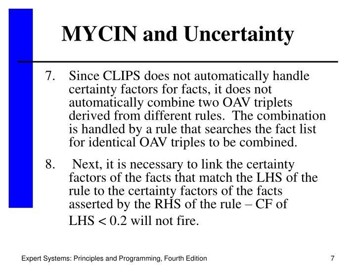 MYCIN and Uncertainty