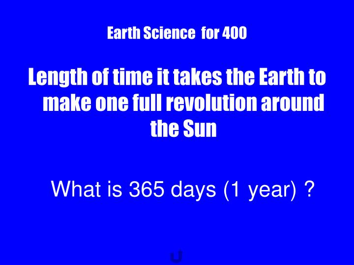 Earth Science  for 400