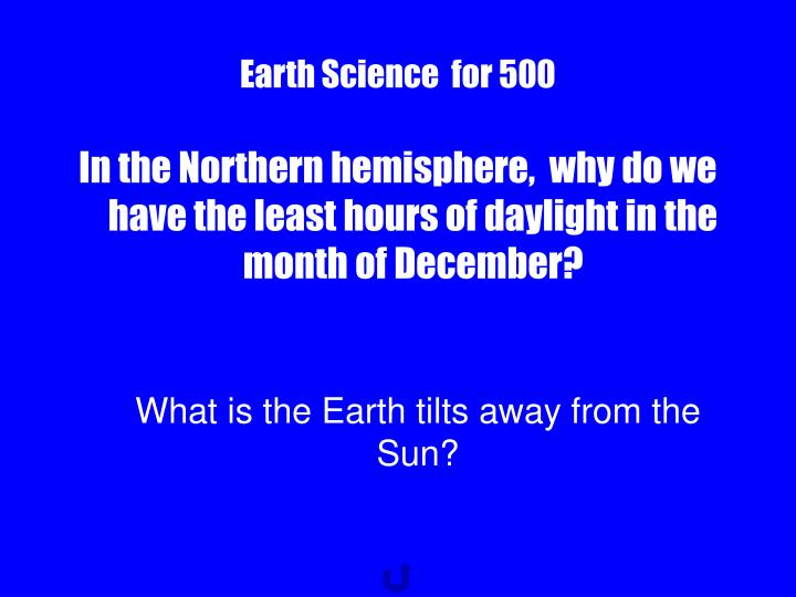 Earth Science  for 500