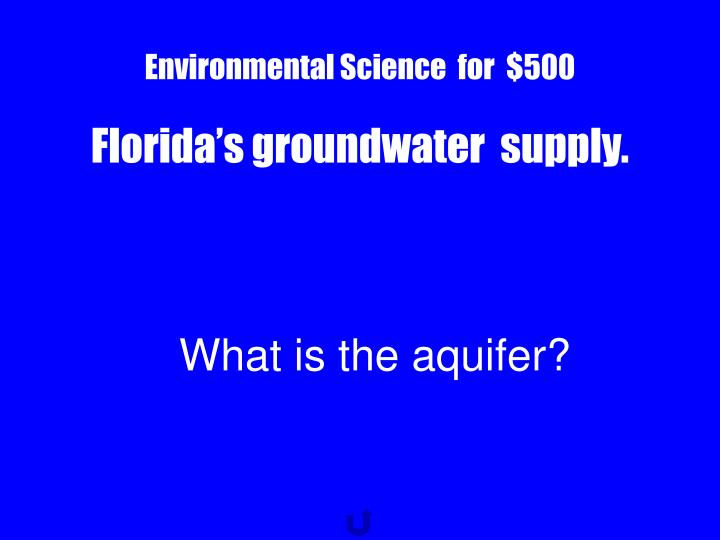 Environmental Science  for  $500
