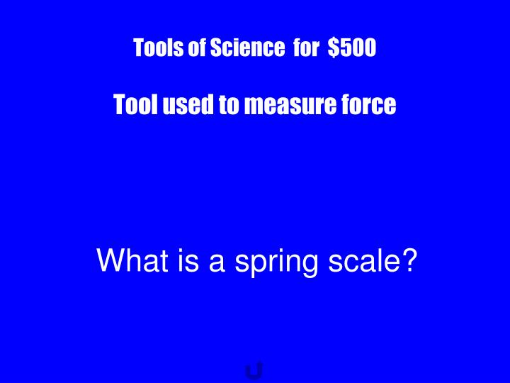 Tools of Science  for  $500