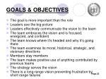 goals objectives