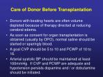 care of donor before transplantation1